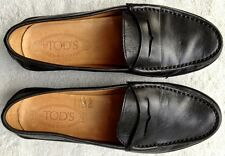 """TOD'S, Marlin Hyannisport"" moccasins in black leather, TOD'S size 7 =8US, Italy"