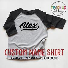 Custom Name Kids Shirt Raglan Toddler Boy/Girl Personalized tshirt Baby Gift Tee