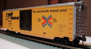 TYCO HO Scale RAIL BOX 50' Box Car with original packaging