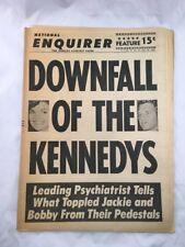 National Enquirer June 18 1967 Kennedys Front Cover Vintage Tabloid Newspaper