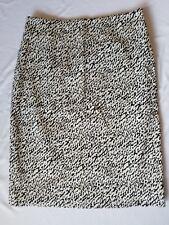 Diane Von Furstenberg Size 6 Black And White Pencil Skirt
