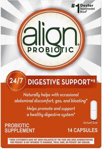 Align 24/7 Digestive Support Probiotic Supplement 14 Capsules