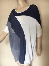 MARINA RINALDI, mailles fines, 100% coton, tunique/top, taille 19, UK 18/20