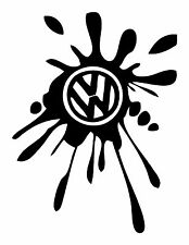 VW Splat  Vauxwagon   Vinyl Sticker/Decal, Car/Window/Bumper JDM EURO