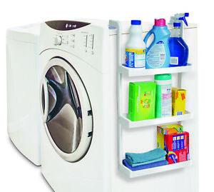 3 Tier Space Saving Shelf Storage Kitchen Laundry Organiser Mount to Appliances