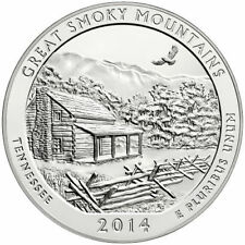 2014 5 oz Silver ATB America the Beautiful Great Smoky Mountains TN (in capsule)