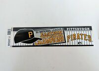 VTG 1991 Eastern Division Champions Pittsburgh Pirates Bumper Sticker MLB