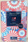 New ELRENE FOURTH 4th OF JULY VINYL TABLECLOTH 52 x 102 PATRIOTIC RED WHITE BLUE