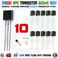 10pcs 2N5401 PNP Transistor 150V 600 mA TO-92 Package USA Seller