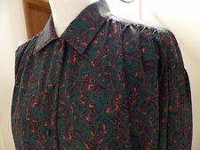 Ladies Jaeger blouse shirt Size 14 16 paisley design.
