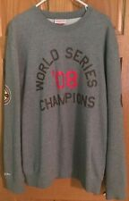 Chicago Cubs Mitchell and Ness 1908 World Series Champions Sweater Gray 2XL Rare