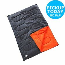 Trespass 400GSM Double Envelope Sleeping Bag - Black. From Argos on ebay