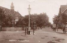 London Real Photo Postcard. Bath Road. Bedford Park. Ealing. Cart!  1919