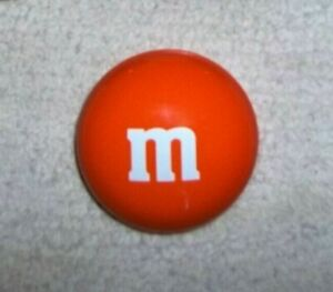 """Mars, M&M's Orange Candy Tin Circle Container, 3 x 3"""" Collectible SHIPS FREE"""