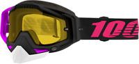 100% Racecraft Snow Goggles Haribo 2 Magenta w/Yellow Lens 50103-293-02