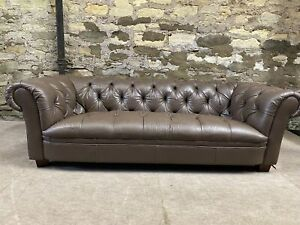 Leather Tetrad CHESTERFIELD 3 SETTEE BUTTONED SOFA