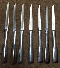 Carvel Hall Stainless Steel Steak Knives LOT OF 7 Glossy Cutlery USA