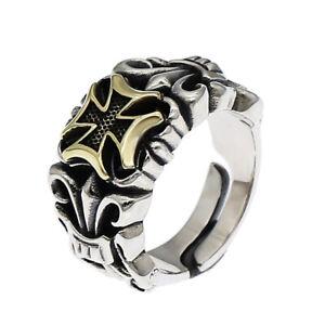Iron Cross Ring - 925 Sterling Silver - Maltese Cross Biker Jewelry USA