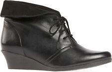 Ladies' Lace Up Casual Wedge Shoe Van Dal Nantucket Black UK Size 5.5 D Fitting