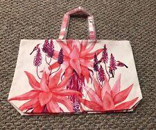 NEW Estee Lauder Pink Floral Flower Large Tote Shopper Makeup Bag