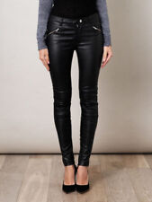 Women & Girls 100% Genuine Lambskin Leather Motor Biker Trouser Pant Slim-Fit