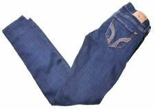 HOLLISTER Womens Jeans W24 L30 Blue Cotton Skinny  MU80