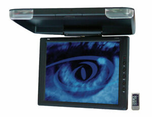 """MOBILE TV PYLE PLVW1342 13.4"""" OVERHEAD CAR VIDEO TFT LCD LIP DOWN MONITOR"""