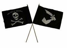 "12x18 12""x18"" Wholesale Combo Pirate Commitment & Thomas Tew Stick Flag"