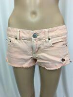 Womens Shorts American Eagle Mini Jean Peach Colored Wash Distressed Stretch 4