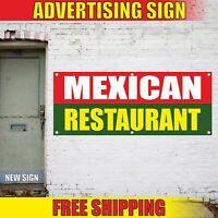 MEXICAN RESTAURANT Advertising Banner Vinyl Mesh Decal Sign OPEN TACOS BURRITOS