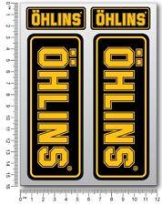 Ohlins fork shock Laminated stickers decals graphics ducati aprilia kawasaki