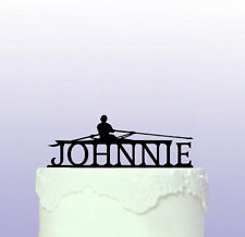 Personalised Rowing Cake Topper