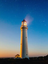 PHOTO LIGHTHOUSE LIGHT BRIGHT STARS WALL ART PRINT PICTURE POSTER HP2730