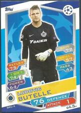 TOPPS MATCH ATTAX CHAMPIONS LEAGUE 2016-17 #BRU02-CLUB BRUGGE KV-LUDOVIC BUTELLE