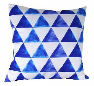 Pair of  Beachy Cushions - Indigo/White