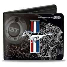 Leather style PU wallet Tribar GT Blueprint Ford Mustang American- great gift!