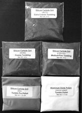 Rock Tumbling Grit Kit for Full Spectrum  Processing in Rotary Tumbler - 5 Pack