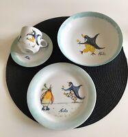 4-tlg.Porzellan-Set Handmalerei für Kind Name Nils Suppe TellerTasse Arzberg NEU