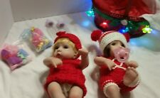 """GREAT GIFT ! 11"""" Twin Holiday Toddler Baby Doll Girls Light Up Basket"""