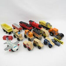ENGINES / CARS / CARGO - THOMAS / BRIO COMPATIBLE WOODEN TRAIN LOT - KIDKRAFT