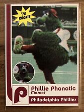 phillie phanatic 1978 rookie oddball mascot phillies ritz cracker Baseball Card
