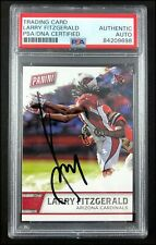 LARRY FITZGERALD AUTOGRAPHED AUTO 2016 PANINI #4 FATHERS DAY CARD PSA/DNA