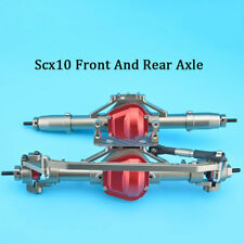 CNC Aluminum Front Axle and Rear Axle Completed Assembly for Axial SCX10 #1557