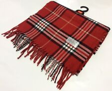 CASHMERE FEEL 100% ACRYLIC SCARF PLAID CHECK DESIGN SOFT 12''X72'' UNISEX RED