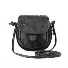 Lovely Cute Girl Pu Leather Mini Small Adjustable Shoulder Bag Handbag Black