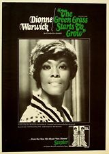 Dionne Warwick 1970 Poster The Green Grass Starts To Grow