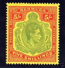 BERMUDA 1939 5/- KEYPLATE SG 118a FINE MINT.