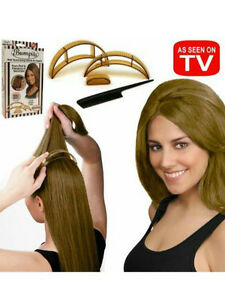 BUMPITS Hair Volumizing Plastic Insert Clips Brown Party Pageant Costume NEW