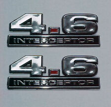 NEW 2 FORD MUSTANG CROWN VICTORIA POLICE SSP - 4.6 INTERCEPTOR EMBLEMS - PAIR