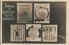 Rare WW1 POW Prisoners of War Camp poster designs British Theatre Doberitz
